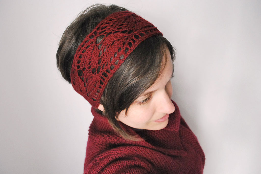 Colorful Knit Lace Headband Pattern Ensign Blanket Knitting
